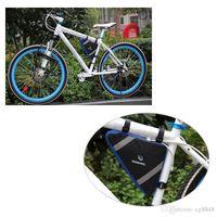 2 Couleurs Roswheel Montagne Vélo Vélo Sac Avant Cadre PVC Tube Triangle Sac Rapide Version Bleu / Orange