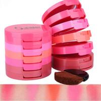 Vente chaude Élégant Maquillage Cosmétique Musique Fleur 5 couleur Pur Minérale Poudre Blusher Palette Colorete Cosmétique Ensemble