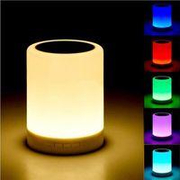 무선 블루투스 스피커 핸즈프리 통화 다채로운 터치 LED 조명 램프 TF 카드 음악 플레이어 스마트 스피커 아이폰 6 6s에 대 한 서브 우퍼