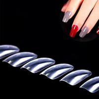 거짓 손톱 투명 전체 네일 팁 수지는 손톱 예술 데칼 스티커 자연 패션 액세서리 도매 핫 H027 확장