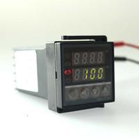 Envío gratis controlador de temperatura termostato Dual Digital PID SSR Salida Pantalla 0 ~ 400 Celsiusb REX-C100 de alta calidad