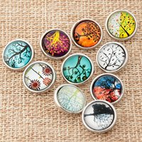 Hot 12MM DIY Tree Snap Button 20PCS Lot Mixed Styles DIY Sna...