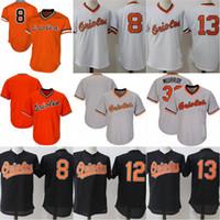 eef7b5b21 ... Baltimore Orioles Throwback Jersey Cooperstown Collection Mens 8 Cal  Ripken Jr. 12 Roberto Alomar Baseball ...