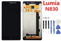 OME لنوكيا Lumia N830 العرض 830 LCD + شاشة تعمل باللمس محول الأرقام الجمعية زجاج عدسة اختبار مرت 1PCS شحن مجاني