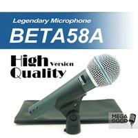 Venda de Alta Qualidade Versão Beta 58 a Vocal Karaoke Dinâmico de Mão Wired Microfone BETA58 Microfone Mike Beta 58 A Mic