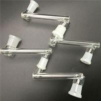 Adaptador de gota de vidrio con boca de molienda de 14 mm 18mm Adaptador de gota de agua para mujer cristal femenino Bong Tubos de agua para fumar