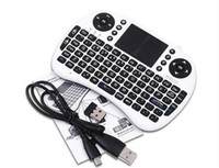 Teclado inalámbrico rii i8 teclados Fly Air Mouse Multi-Media Control remoto Touchpad de mano para TV BOX Android Mini PC 20pcs