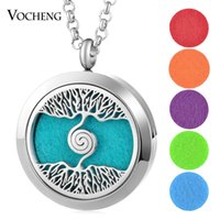 30mm Essential Oil Diffuser Locket Necklace 316L Stainless S...
