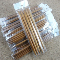 75pcs / set 20cm New Double Knitted Needles Knitting Tools Strumenti artigianali in bambù carbonizzato
