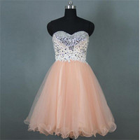 Gorgeous Hot Sale Popular Spaghetti Strap Tulle Beaded Short...