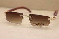 struttura di modo donne T8100926 Occhiali da sole a mano Decor Legno Occhiali popolari uomini di modo C decorazioni occhiali cornice oro Formato: 55-18-135mm