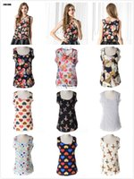 패션 여성 여름 조끼 인쇄 캐미스 탱크 탑 시폰 민소매 조끼 셔츠 숙녀 블라우스 탑 플러스 캐주얼 S-XXXL 2XL 3XL