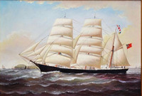 PORTRAIT OF OLD TALL SHIP, LARGE OIL PAINTING BAROQUE , Pure ...