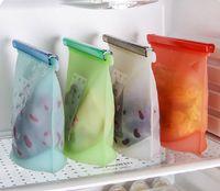 Bolsa de silicona reutilizable para la conservación de alimentos Sello hermético Contenedor de almacenamiento de alimentos Bolsa de cocina versátil DHL WX9-48 gratis