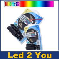 5050 RGB LED-strips lichten SMD 300 LED 60LED / M flexibele LED-lichtrol Waterdichte IP65 met 44Keys Controller + 12V 5A-voeding
