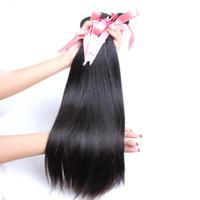 Greatremy 20 inç Brezilyalı Virgin Saç Paketler Doğal Renk İpeksi Düz İnsan saç örgüleri Atkı 3pcs / lot boyanabilme Drop Shipping