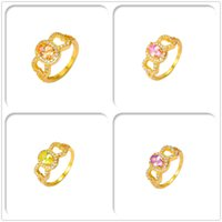 Wholesale Jewelry New Arrival 24K Yellow Gold Plated Rings C...