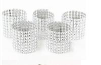 """Silber 1,5 """"8 Reihe Bow Covers Serviettenringe Diamant Strass Hochzeit Stuhl Schärpen Bögen freies Verschiffen"""