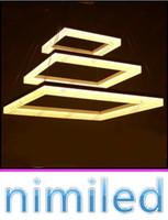 nimi702 2/3 couches superposées lustre moderne acrylique minimaliste carré salon salon lumières restaurant pendentifs suspendu éclairage de fil