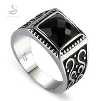 925 sterling Silver Jewelry rings Black agate S- - 3809 sz# 7 ...