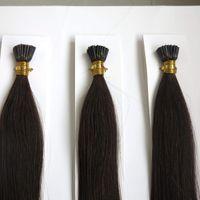 Бразильские кератиновые волосы я наклоняю прямые предварительно скрепленные человеческие волосы 20 дюймов 1 г / прядь 9 цветов