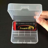 Alta Calidad 26650 Claro Blanco E-cigs Plástico Caja de Batería Caja Titular Contenedor de Almacenamiento paquete 2 * 26650 para baterías de mod mecánica