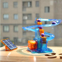 Ball moving! Creative solar toys diy toys children assembled...