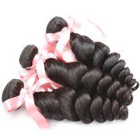 100٪ حزمة الشعر الماليزية 3 قطعة / الوحدة ريمي الشعر الإنسان نسج غير المجهزة متموج موجة فضفاضة اللون الطبيعي لون صبغ الشعر التمديد