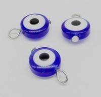 500Pcs ojo malvado de Hamsa Kabbalah Luck pendiente del colgante para la joyería que hace el arte 17x11mm