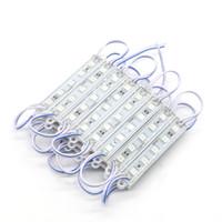 Edison2011 SMD5050 5leds IP65 방수 DC12V LED 조명 모듈 75 * 12 mm 방수 빛 광고 램프 화이트 따뜻한 흰색 멀티 컬러