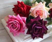 La simulación de flores decorativas al por mayor de una sola flor, flor de seda subió paño de tabla del equipamiento casero