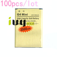 100 pz / lotto BL-49SF BL49SF BL 49SF 3500mAh batteria di ricambio in oro per LG G4 Mini G4C G4S H735T H525N G4Mini G4beat G4 Beat Batterie