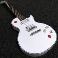 Пользовательская аркадная кнопка Killswitch Beashethead Signature Alpine Белая электрическая гитара Ebony Gameboard без вкладок 24 Jumbo Frets Top Sale