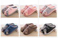 Zapatillas de casa para hombre de invierno Zapatillas de casa de dibujos animados antideslizantes Zapatillas de deporte suaves de invierno Zapatillas de casa para interiores Zapatos de piso para par