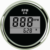 Tacômetro digital RPM Tacho Gauge Com Hour Meter Para O Caminhão Do Barco Do Carro Iate 0-9990 RPM 52mm Com Backlight