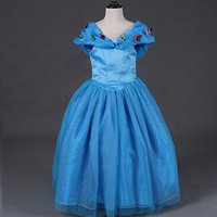 Girls Cinderella Princess Dresses Children Movie Party Ball ...
