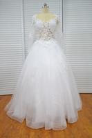 Vestido De Festa De Casamento Vinoprom Com Decote Em V vestido De Baile Querida Mangas Compridas Branco Do Laço Do Vestido De Casamento Vestidos De Noiva 2018