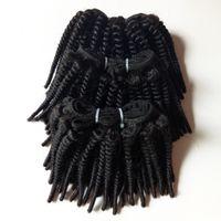 黒人女性未処理のファッション美容afro変態カーリーブラジルバージンヘアファクトリー卸売50g / Pc 6pc 300g /ロット
