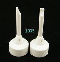 1pcs MOQ 14mm / 18mm clavos de cerámica sin domeless con la junta femenina de cristal masculina / femenina, hecha de ceremic contra el clavo Titanum del clavo de cerámica de Domeless