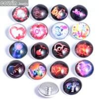20pcs lot Mixed colors love 18mm snaps buttons Jewelry Facet...