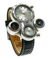 Gli uomini di lusso guardano l'orologio multifunzionale del termometro della bussola analogica del doppio per il regalo HP1149 di goccia Trasporto libero