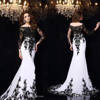 Vestidos de noche blanco y negro