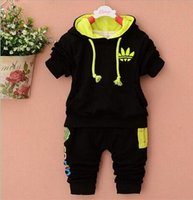 2017 New Baby Boys Girls Sets 100% Cotton Hooded Children&#0...
