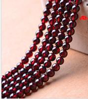 3A 4A 5A 6A Perle di granato Rotonde Pure Natural Crystal Semilavorati in rilievo Bracciali Accessori gioielli fai da te