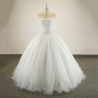 Gerçek Numune Bling Bling Luxury Kristal Boncuklu Beyaz Fildişi Balo Gelinlik Custom Made Vestido De Noiva Gelin Gelinlikler
