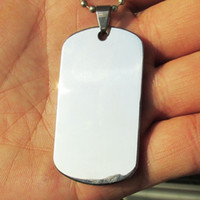 100pcs lot Blank Stainless Steel Military Army Dog Tags Mirr...