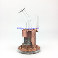 copper plating glass bong 14 mm male joint oil rigstwo tire ...