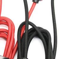1 m toptan telefon kabloları örgülü wewo usb kablosu siyah güvenli şarj cihazı kırmızı hücre mikro 2.4a vosln