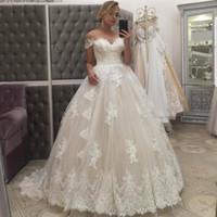 Encolure chérie dentelle robe de bal robes de mariée grande taille Vintage balayage train robes de mariée robe de mariage de la Chine