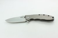 A DAI Cuchillo personalizado Zero Tolerancia ZT0562 Cuchillo plegable King Steel M390 Patrón enrejado Titanio Mango Smooth zt 0562 EDC Tactical Tools
